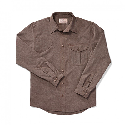 Filson Right Handed Shooting Shirt Mulch M FCO-003990 FIL-10732-Mulch-M|FIL-10732-Mulch-M