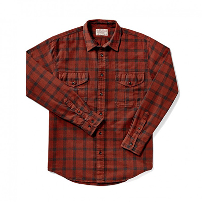 Filson Burgundy/Deep Brown Lightweight Alaskan Guide Shirt 10743-AP