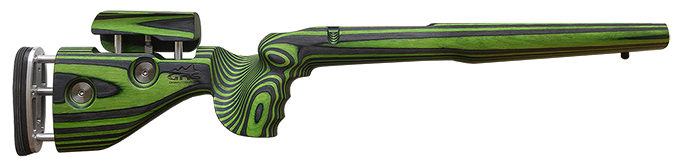 GRS Hunter Tikka 595/590/558 Black/Green Stock 104384