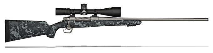 Gunwerks LR1000 6.5x284 Norma Carbon with Dark & Light Grey w/ NF NXS 5.5-22x50 Scope Rifle Package LR1000-65284-Fltd-RB-RH-SS-SFP