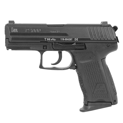 HK P2000 Pistols, 9mm - supplied with three additional back straps.  (V3) DA/SA, rear decocking button, three 10rd magazines and night sights.  MPN 709203LEL-A5