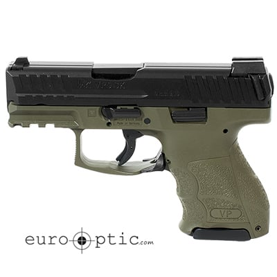 HK VP9SK Subcompact 9mm OD Green (3) 10rd Magazines & Night Sights 81000098