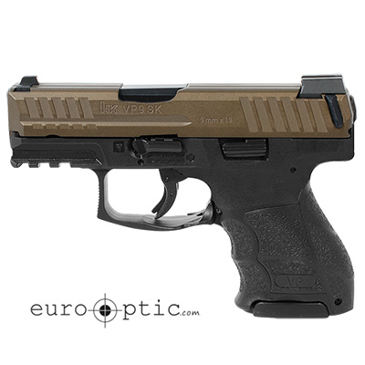 HK VP9SK Subcompact 9mm Midnight Bronze Handgun (3) 10 rd Magazines and Night Sights 81000146