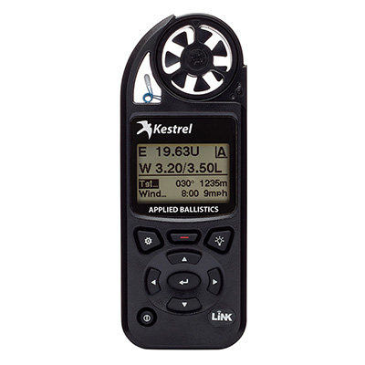 Kestrel 5700 Elite Weather Meter with Applied Ballistics with LiNK - Berry Compliant - Black 0857ALBLKM