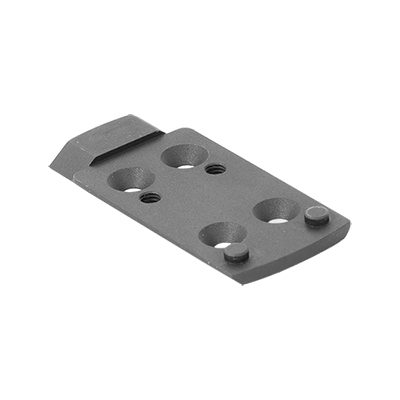 Optics plate w/ integral co-witness rear white dot sight for Leupold Deltapoint Pro optics
