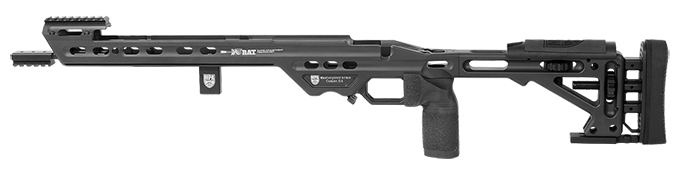 Masterpiece Arms BA Comp Chassis Rem700 SA LH Black