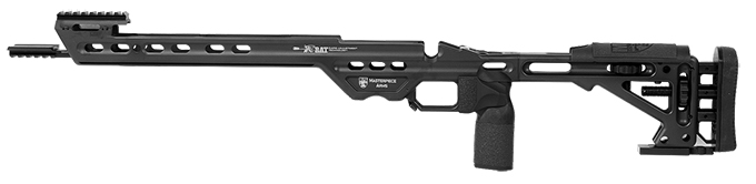 Masterpiece Arms Remington Short Action Left Hand Black Competition Chassis