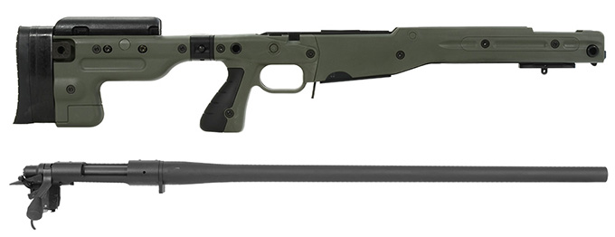 Remington 700P 5R 308 Win with Accuracy International AT Green Folding Chassis