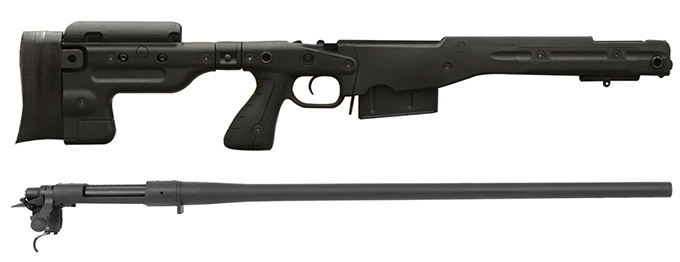 Remington 700P 5R 300 Win Mag with Accuracy International AT Black Folding Chassis