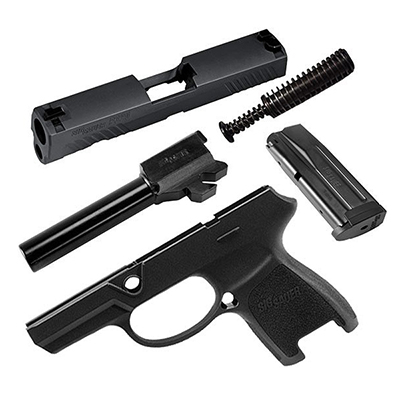 Sig Sauer P320 Subcompact 9mm 10rd Black Caliber X-Change Kit CALX-320SC-9-BSS-10