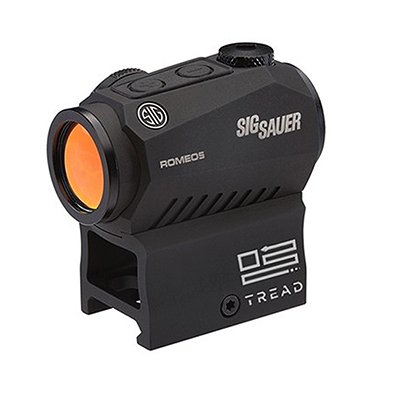 Sig Sauer ROMEO5 Compact Red Dot Sight, 1x20mm, 2 MOA Red Dot, 0.5 MOA Adj, M1913, Black, Tread Logo SOR52010