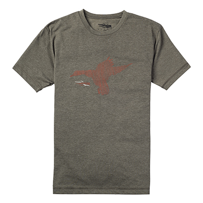 Sitka Duck Sketch Short Sleeve Tee Pyrite 20037-PY