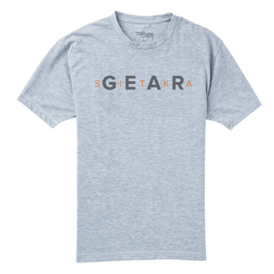 Sitka Gear Tee SS Heather Grey Small 20074-HG-S