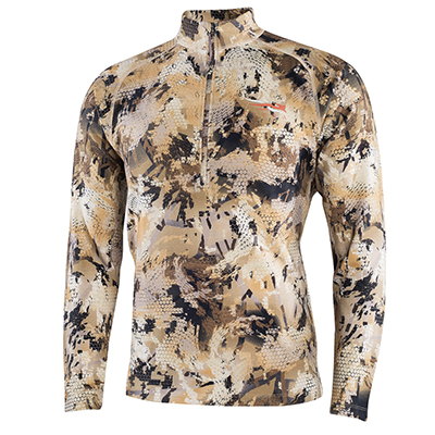 Sitka Marsh Merino Heavyweight Half-Zip Optifade Waterfowl Large 10074-WL-L
