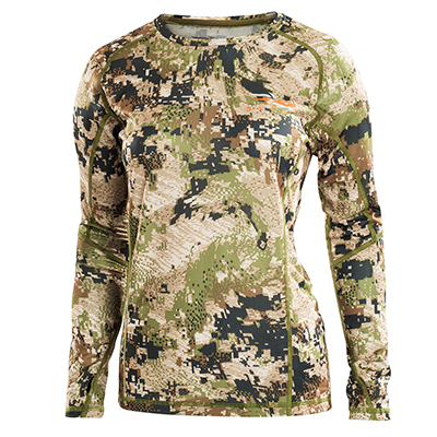 Sitka Women's Core Lt Wt Crew LS Optifade Subalpine 10053-SA