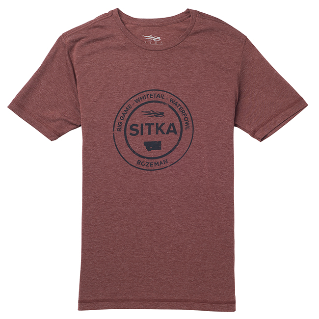 Sitka Seal Tee SS Umber Heather 20116-UH