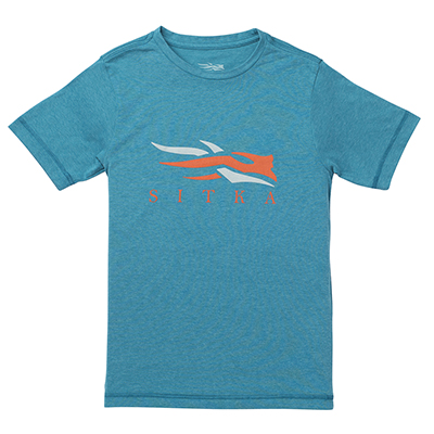 Sitka Youth Logo Tee SS Pond 20114-PO
