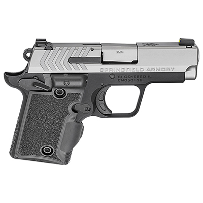"Springfield Armory 911 9mm 3"" Stainless, Green Viridian Grip Laser Pistol (w/ 2 Magazines) PG9119SVG"
