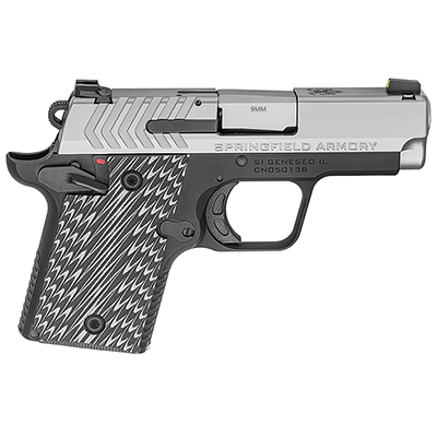 "Springfield Armory 911 9mm 3"" Stainless Pistol (w/ 2 magazines) PG9119S"