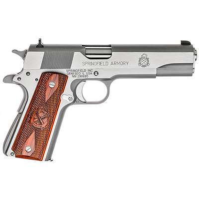 "Springfield 1911-A1 5"" .45 MIL-SPEC STAINLESS STEEL PB9151L"