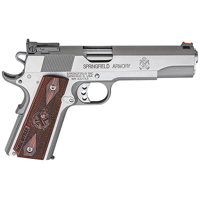 "Springfield 1911-A1 5"" .45 RANGE OFFICER STAINLESS PI9124L"