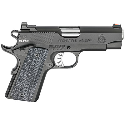 "Springfield Armory 1911 Range Officer Elite Compact 9MM 4"" (2) 8rd Mags Black-T PI9125E"