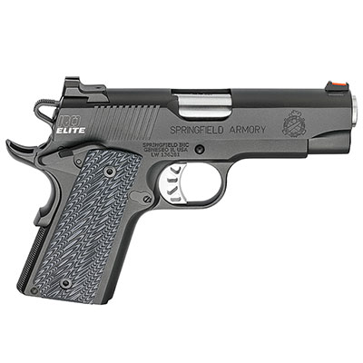 "Springfield Armory 1911 Range Officer Elite Compact 9MM 4"" (2) 8rd Mags Black-T PI9125ER"