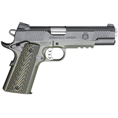 "Springfield 1911-A1 5"" .45 OPERATOR MC OD/BLACK G10 PX9110ML18"
