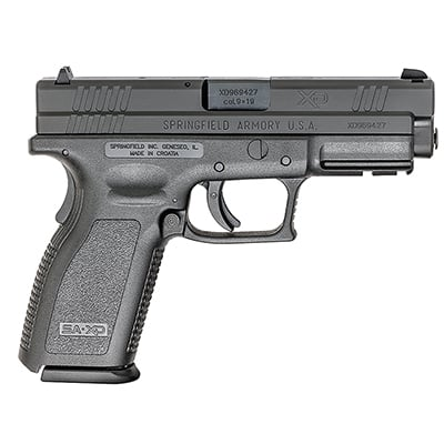 "Springfield Armory XD 9MM SERVICE 4"" BLACK 10Rd XD9101"
