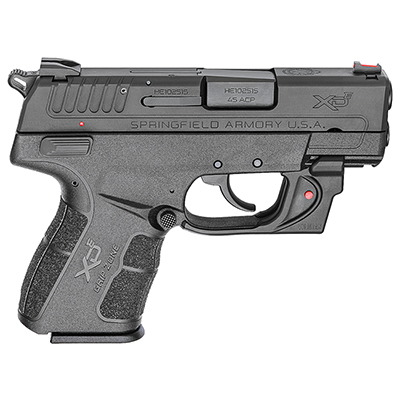 "Springfield Armory .45 ACP 3.3"" Black Red Viridian Laser w/ 2 Magazines XDE93345BVR"