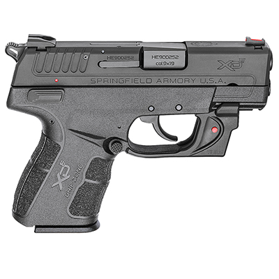 "Springfield XDE 9mm 3.3"" Black Red Viridian Laser w/ 2 magazines XDE9339BVR"