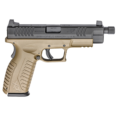 "Springfield XD(M) 9MM 4.5"" FDE THREADED XDMT9459FDEHCE"