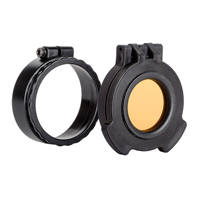Tenebraex Amber See-Through Objective Flip Cover w/ Adapter Ring for Trijicon MRO 37MMFC-FRA004-ACR
