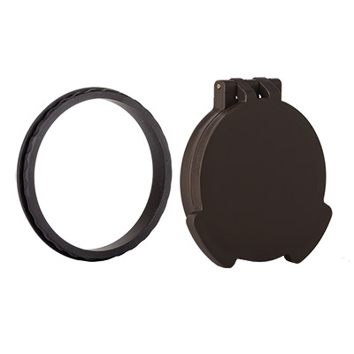 Tenebraex Objective Flip Cover w/ Adapter Ring Earth/Black for Swarovski X5 3-18x50 50MMDE-VV0050-FCR