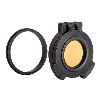 Tenebraex Objective Amber See-Through Flip Cover w/ Adapter Ring for Leica Magnus 1.5-10x42 50MMFC-VV0044-ACR