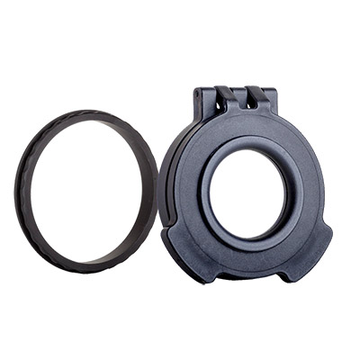 Tenebraex Objective Clear Flip Cover w/ Adapter Ring for Nightforce ATACR 4-16x50 50NFC3-CCR