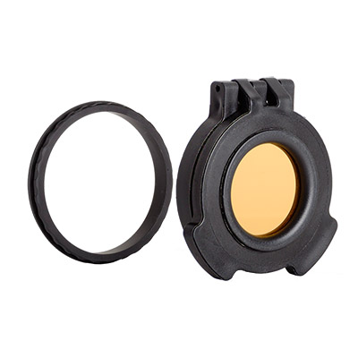 Tenebraex Objective Amber Flip Cover w/ Adapter Ring for Nightforce ATACR 5-25x56 56NFCC-ACR