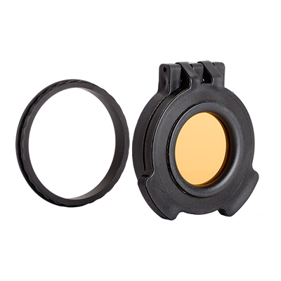 Tenebraex Objective Amber Flip Cover w/ Adapter Ring for Hensoldt ZF 3.5-26x56 SB5603-56CZC0-ACR