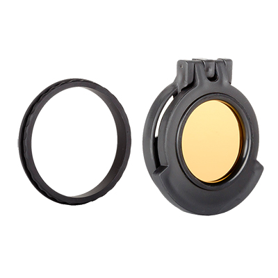 Tenebraex Objective Amber Flip Cover w/ Adapter Ring for Kahles Helia g 1.6-8x42 SDO000-KH5042-ACR