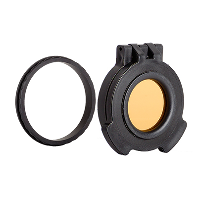 Tenebraex Objective Amber Flip Cover w/ Adapter Ring for Vortex 4.5-27x56 VR0056-ACR