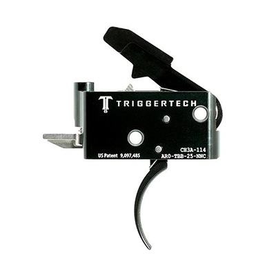 TriggerTech AR15 Adaptable Curved Blk/Blk Two Stage Trigger AR0-TBB-25-NNC