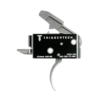 TriggerTech AR15 Competitive Curved SS/Blk Two Stage Trigger AR0-TBS-33-NNC