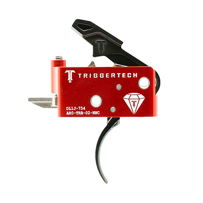 TriggerTech AR15 Diamond Curved Blk/Red Two Stage Trigger AR0-TRB-14-NNC