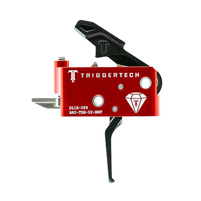 TriggerTech AR15 Diamond Flat Blk/Red Two Stage Trigger AR0-TRB-14-NNF