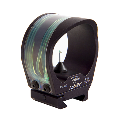 Trijicon AccuPin Green Triangle with Rail Grabber Base