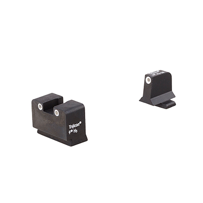 Trijicon Bright & Tough Night Sight Suppressor Set w/White Front/White Rear & Green Lamps - for FN 509 FN204-C-600996