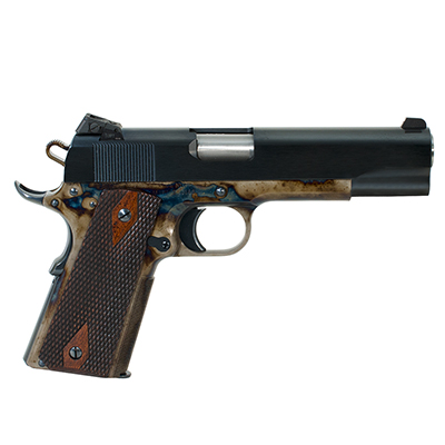Turnbull 1911 Checker, BT, SS Barrel, Kensight (Heritage) Goverment double diamond wood grips MPN TB-P3-G-CC