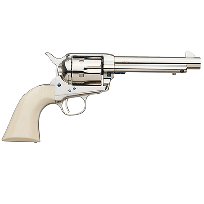 "Uberti 1873 Cattleman Cody NM Nickel, Ivory Style Grip 5½"" .45 Colt.  MPN 356115"