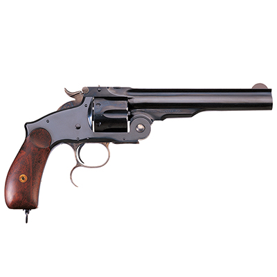 "Uberti 6.5"" Russian Full Nickel-Plated Ivory Grip Cartridge Revolver .45 Colt 348580"