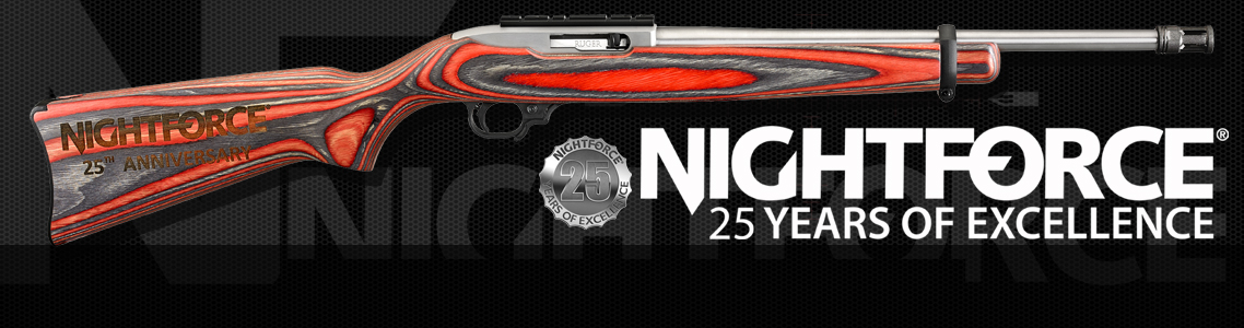 Nightforce 25th Anniversary Ruger 10/22 Promotion!